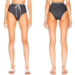 Solid & Striped Cora Denim Bikini Bottoms NWOT